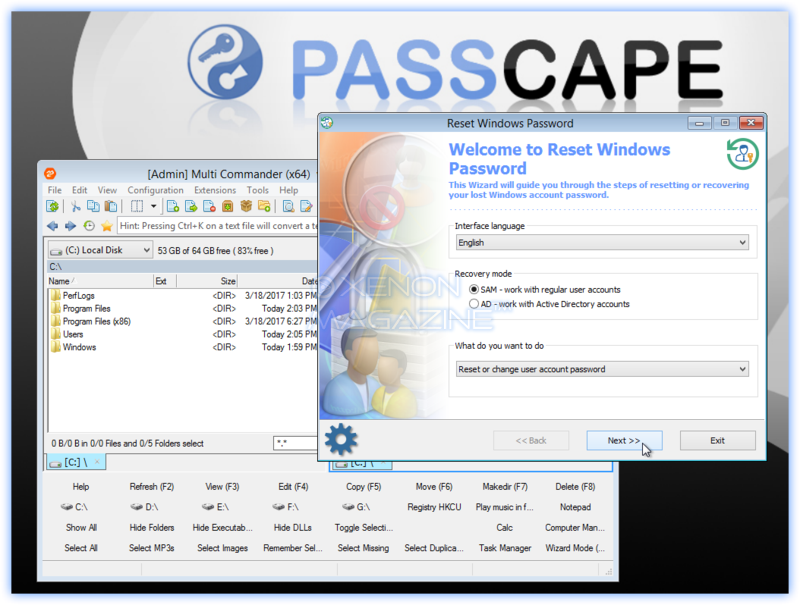 Passcape Windows Password Reset Advanced Edition - version 7 1 0